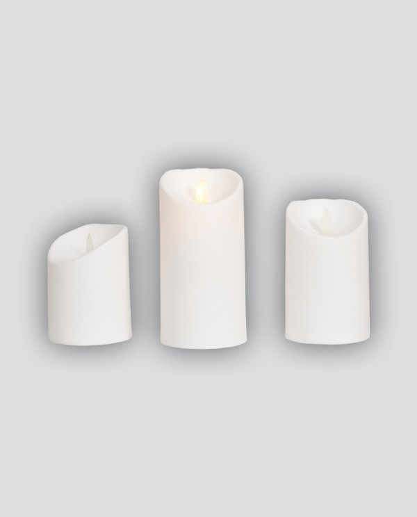 3x Candle with Led