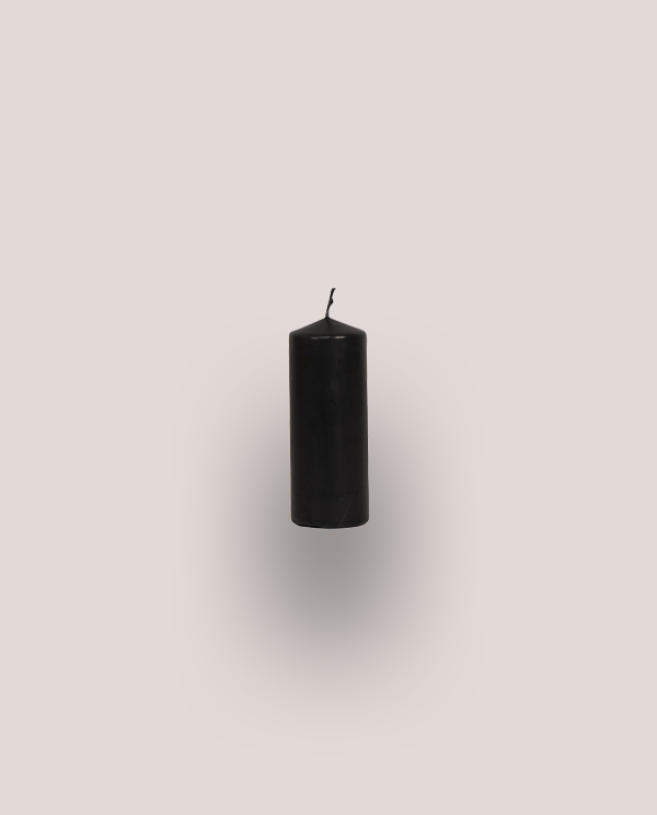 Set of 4 Black Cylindrical Candles
