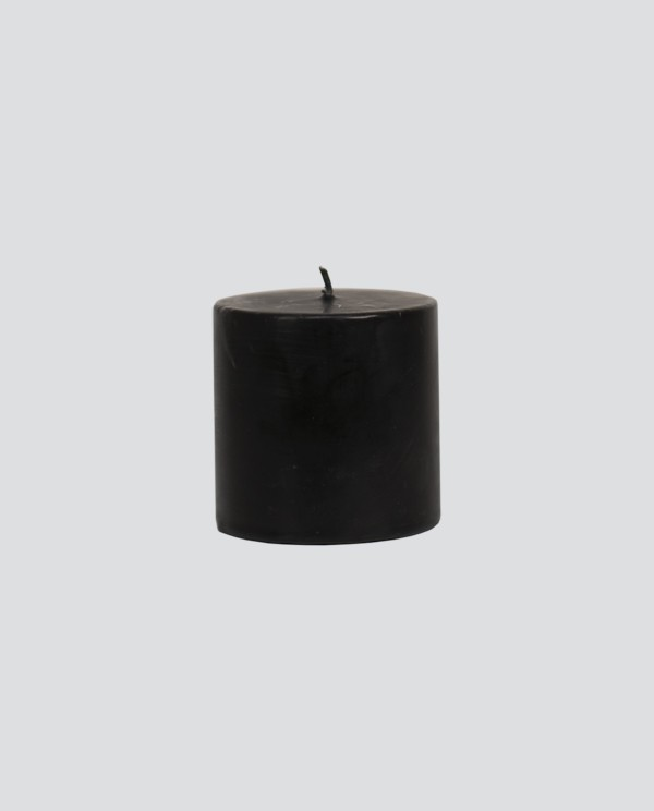 Wide Cylindrical Candle